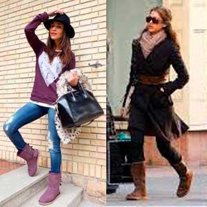 Como combinan las mujeres sus botas ugg