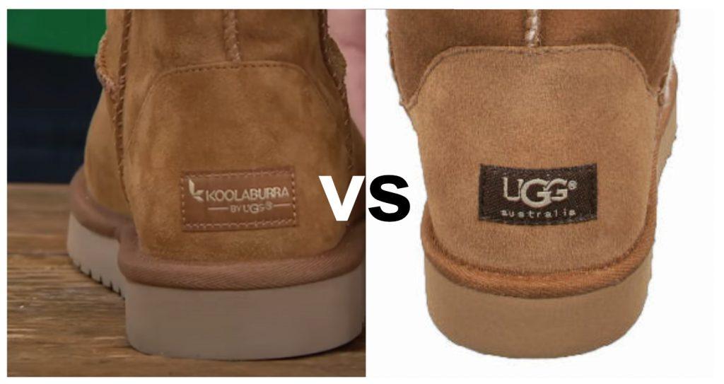 etiqueta botas koolaburra vs bota ugg