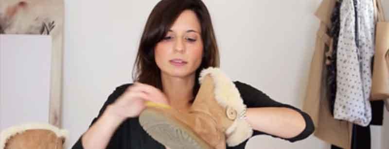 limpiar botas ugg con esponja suave